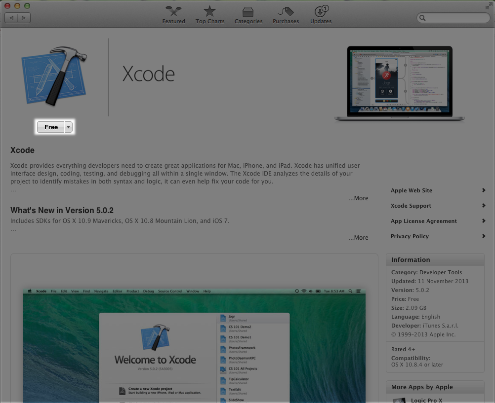 11  Download and install Xcode on your Mac - App Studio User